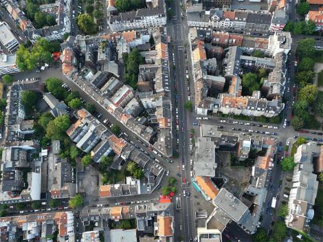Luftbild Nippes - Foto: Neuwieser (neuwieser.jimdo.com) - CC BY-SA 2.0 (commons.wikimedia.org) / Zum Vergrößern auf das Bild klicken