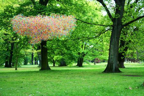 Schlosspark Köln-Stammheim - Foto: Horsch, Willy - Public Domain / Zum Vergrößern auf das Bild klicken