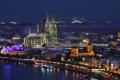 Nachtpanorama mit Dom - Quelle: fotolia / Zum Vergrößern auf das Bild klicken