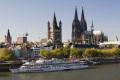 Schiff am Rhein / Zum Vergrößern auf das Bild klicken